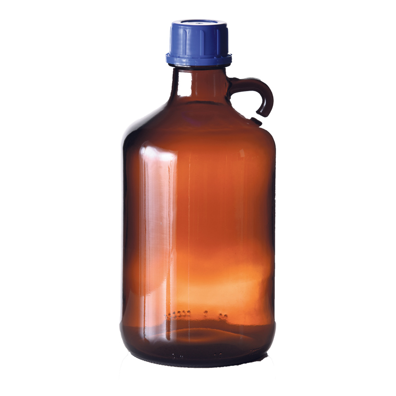 Amber Glass With Handle
